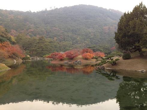 栗林公園池2