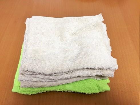 古いタオルは捨てる前にカットして使い捨て雑巾へ