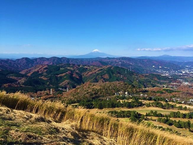 「大室山」からの紅葉と富士山は絶景