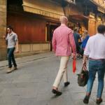 イタリアメンズファッション―フィレンツェの風景