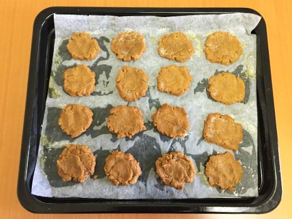 材料3つだけで作る「米粉ピーナッツバタークッキー」