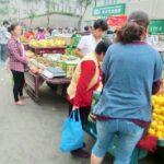 中国庶民の生活を垣間見れる市場