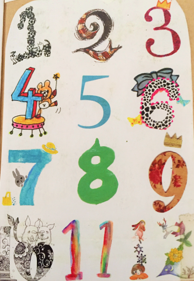 おしゃれで可愛い数字のデザイン