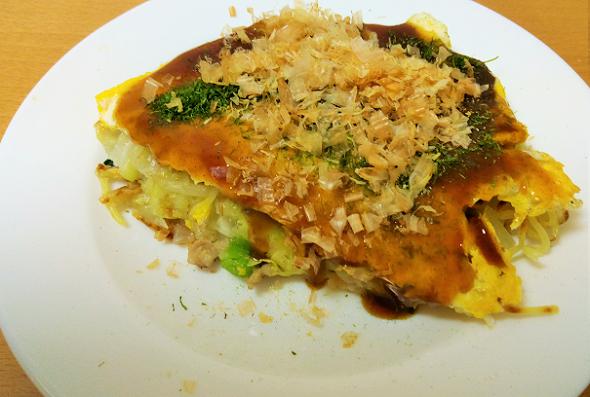 「おたふくお好み焼きセット」で作る野菜たっぷり美味しいお好み焼き