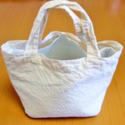 100均シンプル布バッグから簡単保冷ランチバッグ作り