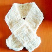 「ミルキーラテ」でマフラーを編む