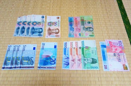海外旅行で余っていた外貨紙幣をドルにして使用