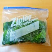 ビビンバ用のほうれん草を茹でて冷凍