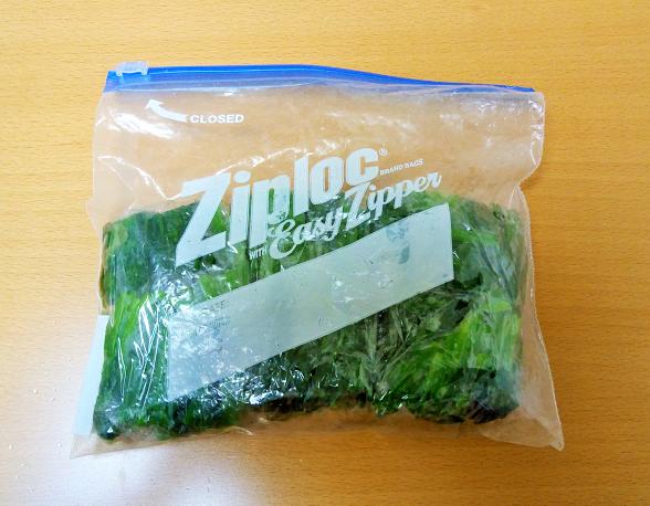 ビビンバ用のほうれん草を茹でて冷凍保存
