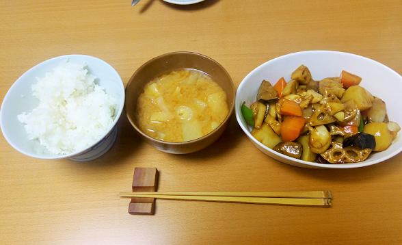 大戸屋風野菜の黒酢あんかけが美味しい