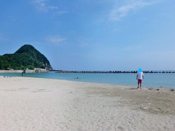 竹野浜海水浴場で海水浴、奥城崎シーサイドホテルに宿泊