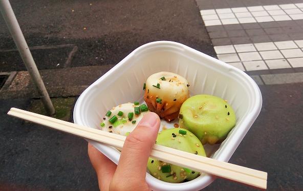 横浜中華街で食べ歩き、美味しかった焼き小籠包