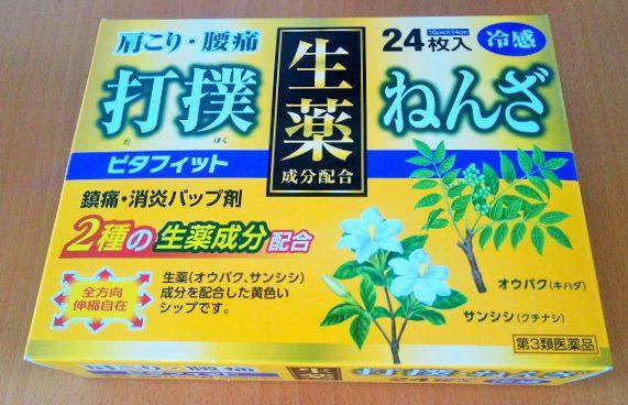 背中の張りにも効果絶大!帝国製薬の湿布「ピタフィット」を箱買い