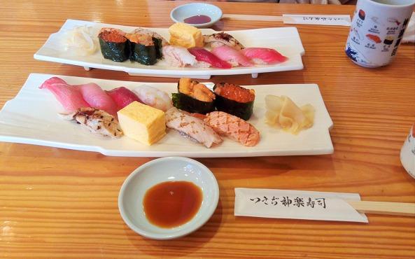 「つきぢ神楽寿司 本店」で食べたお寿司のネタが美味しかった