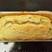 スイートポテト生地とバナナの簡単パウンドケーキ