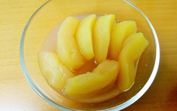 青森県産無農薬・無化学肥料りんごのコンポート