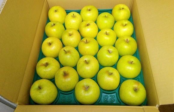 青森県産自然農法りんご(王林)で美味しい焼りんご